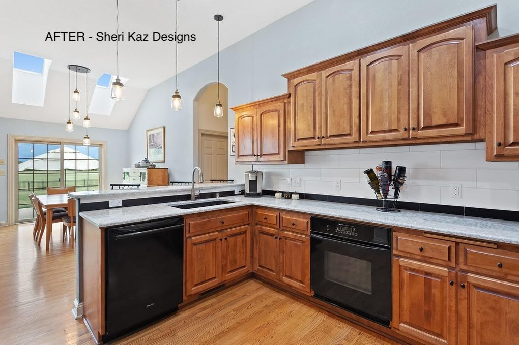Kitchen Remodel After Picture by Sheri Kaz Designs Milwaukee Wisconsin